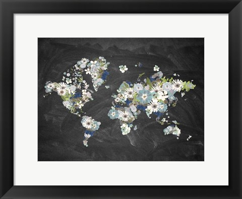 Framed Blooming Map 2 Print