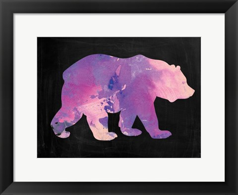 Framed Purple Bear Print