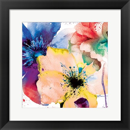 Framed Color Flowers 2 Print