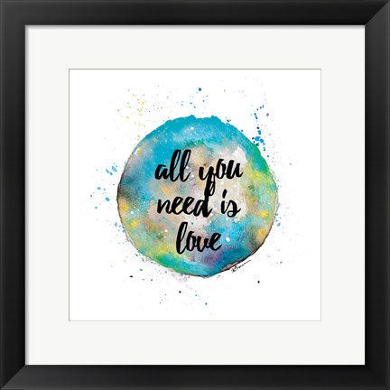 Framed Need Love Print