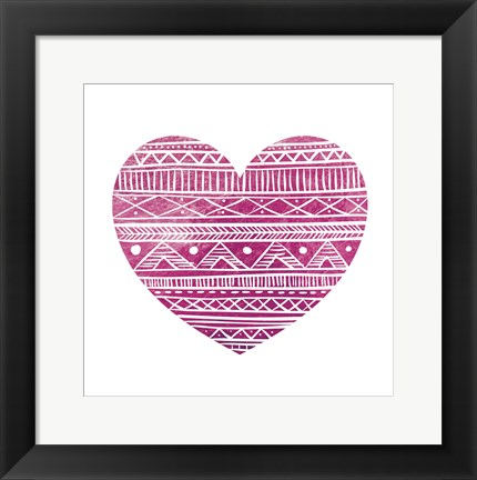 Framed Tribal Heart 2 Print
