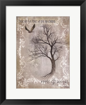Framed Roots And Wings Print