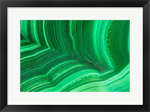 Framed Malachite 1 Print