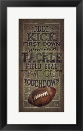 Framed Football Talk Print