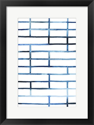 Framed Watercolor Bleed Pattern I Print