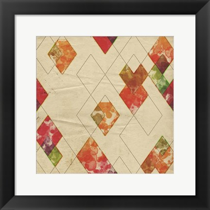 Framed Geometric Color Shape II Print