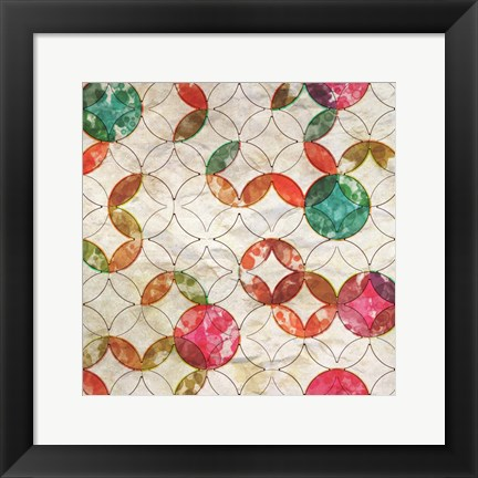 Framed Geometric Color Shape VI Print
