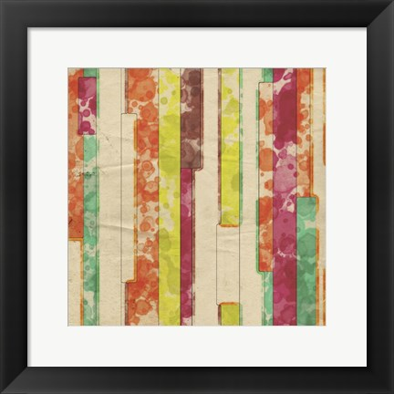 Framed Geometric Color Shape VII Print