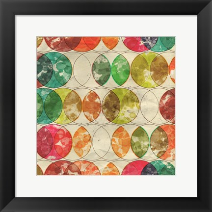Framed Geometric Color Shape IX Print
