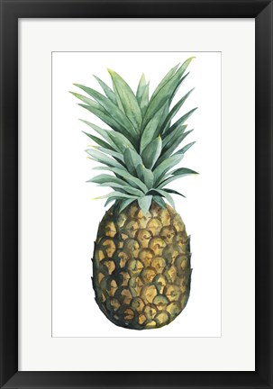 Framed Watercolor Pineapple II Print