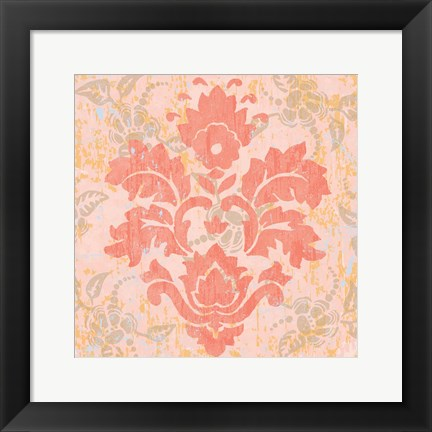 Framed Damask Stamp V Print