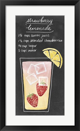 Framed Summer Drinks III Print