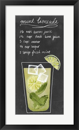 Framed Summer Drinks IV Print