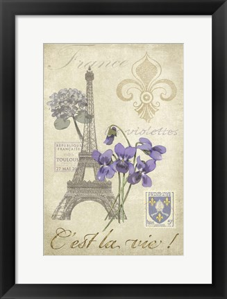 Framed Paris Tour I Print