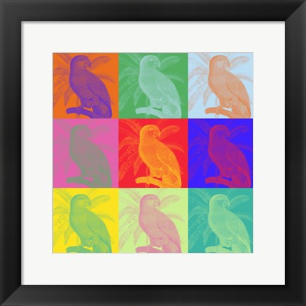Framed Parrot Party I Print