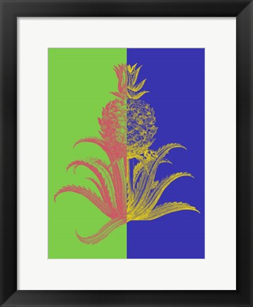 Framed Pineapple Mix I Print