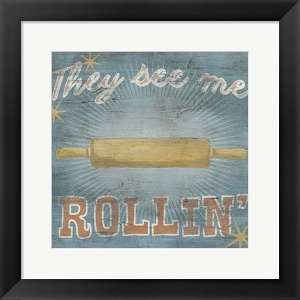 Framed Hip Kitchen II Print