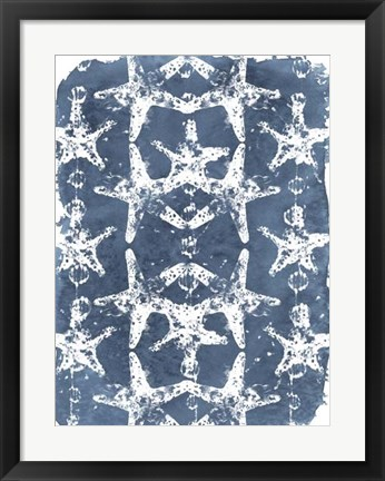 Framed Batik Shell Patterns II Print