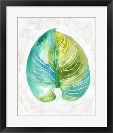 Framed Ocean Side Palms  I Print