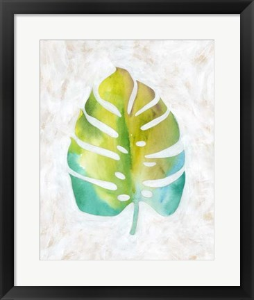 Framed Ocean Side Palms  VI Print