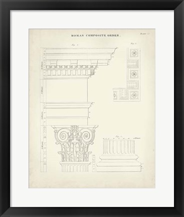 Framed Greek & Roman Architecture IV Print