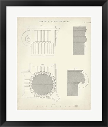 Framed Greek & Roman Architecture VI Print