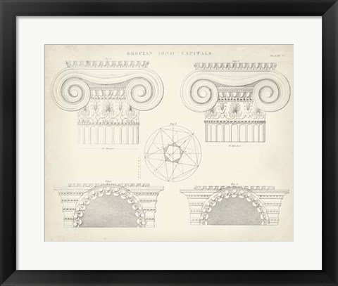 Framed Greek & Roman Architecture VIII Print
