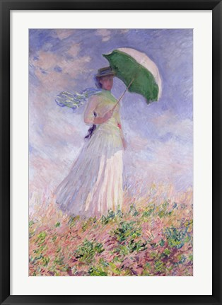 Framed Woman with a Parasol turned to the Right, 1886 Print