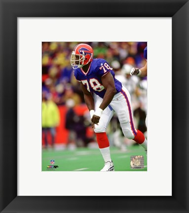 Framed Bruce Smith 1998 Action Print