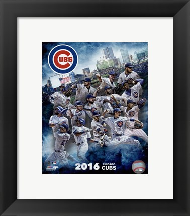 Framed Chicago Cubs 2016 Team Composite Print