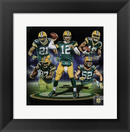 Framed Green Bay Packers 2016 Team Composite Print