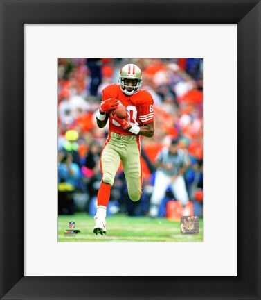 Framed Jerry Rice 1986 Action Print