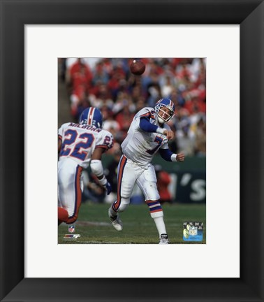Framed John Elway 1994 Action Print