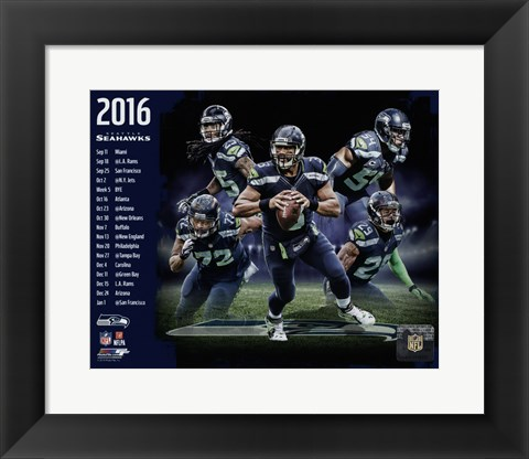 Framed Seattle Seahawks 2016 Team Composite Print
