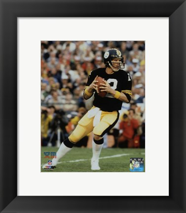 Framed Terry Bradshaw Super Bowl XIII Action Print