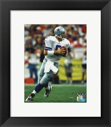 Framed Troy Aikman 1996 Action Print