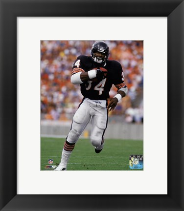 Framed Walter Payton 1985 Action Print