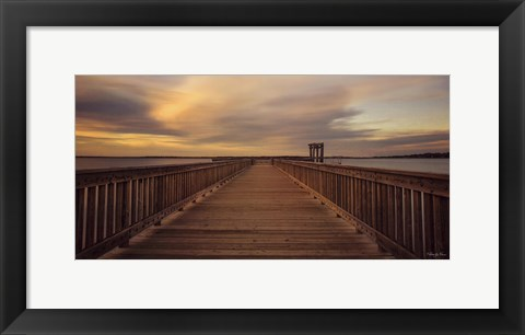 Framed Pier Review Print