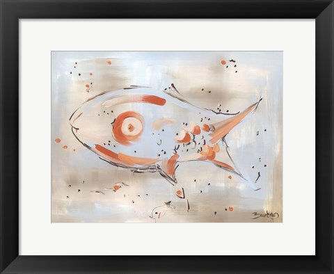 Framed Abstract Fish Print
