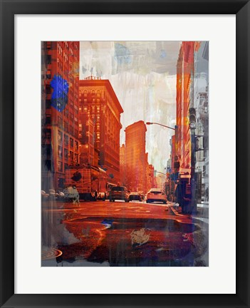 Framed NY Downtown 14 Print