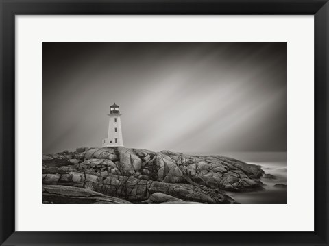Framed Peggy's Cove Lighthouse Print