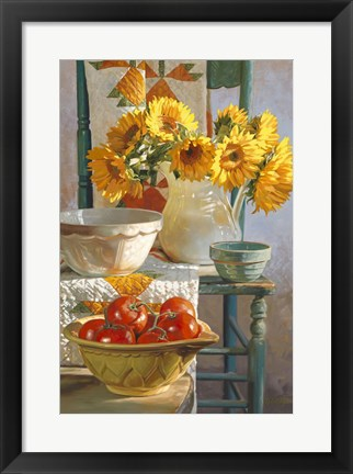 Framed Sunflowers & Tomatoes Print