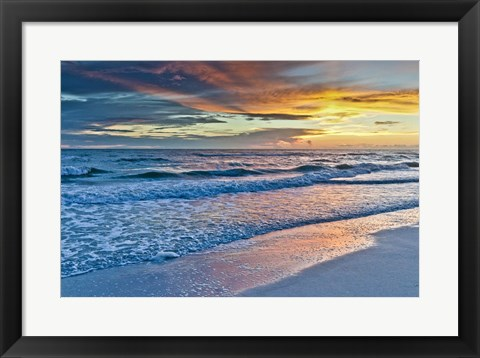 Framed Sunset Reflections Print
