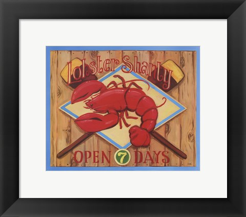 Framed Lobster Shanty Print