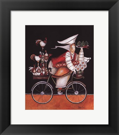 Framed Chicken Chef Print