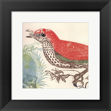 Framed Red Bird Print