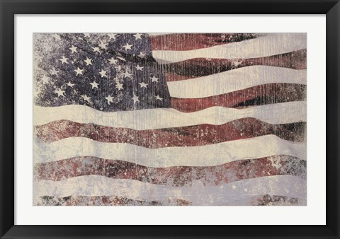 Framed Old Glory Print
