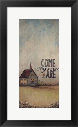 Framed Come As You Are Print