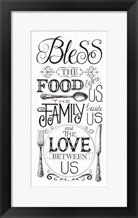 Framed Bless The Food Print