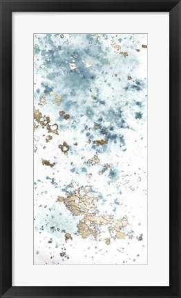 Framed Blue Nebula I - Metallic Foil Print